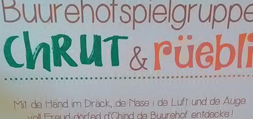 Chrut & Rüebli: Spielgruppe auf dem Plattehof Gachnang